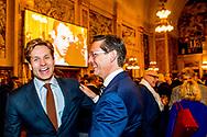 ROTTERDAM - Joost Eerdmans  tijdens de uitslagenavond van de gemeenteraadsverkiezingen in het stadhuis van Rotterdam. ANP ROBIN UTRECHT