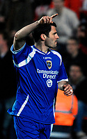 Photo: Alan Crowhurst.<br /> Southampton v Cardiff City. Coca Cola Championship. 13/03/2007. Cardiff's Steven Thompson.