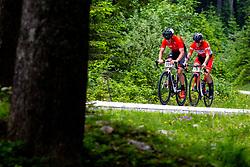 Grega Sturm and Goran Salavec compete at Sloveian Road Cycling Championship Time Trial 2020 Gorje - Pokljuka, on June 28, 2020 in Pokljuka, Slovenia. Photo by Matic Klansek Velej / Sportida