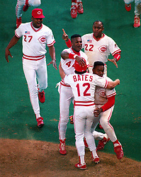 The Cincinnati Reds win Game 2, 1990