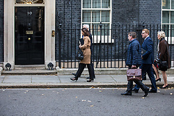 © Licensed to London News Pictures. 13/11/2017. London, UK. European business leaders arrive on Downing Street for a meeting with Prime Minister Theresa May in which they will voice their concerns about the future of UK-EU trade. Photo credit: Rob Pinney/LNP
