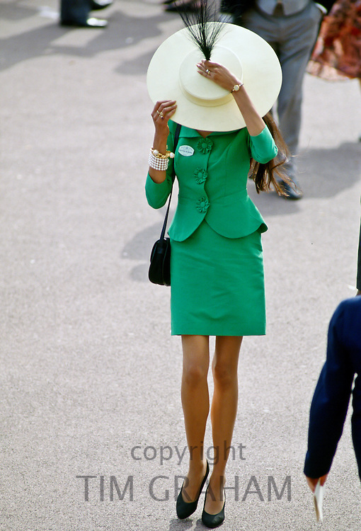 Fashion at Royal Ascot races, UK.