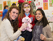24/02/2013. Gillian Madders from Waterford, Alla Hogan with Sparkles from Eyrecourt NS St Brendan's and Manisha Sachdera  at the Teddybear Hospital a training day for students and Get to know your the hospital for Children and Teddys. .Picture:Andrew Downes