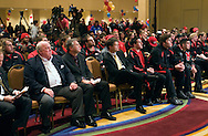 The University of Maryland football team listens during a Welcome Reception at the Renaissance Hotel in Washington, DC, where they will be staying for the Military Bowl. They will face East Carolina University in the Military Bowl on December 29, 2010. (Photo by Alan Lessig)