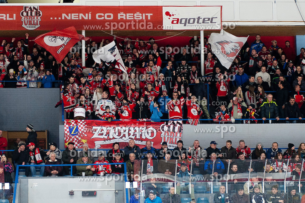 13.02.2015, Ice Rink, Znojmo, CZE, EBEL, HC Orli Znojmo vs EC Red Bull Salzburg, Platzierungsrunde, im Bild Zuschauer // during the Erste Bank Icehockey League placement round match between HC Orli Znojmo and EC Red Bull Salzburg at the Ice Rink in Znojmo, Czech Republic on 2015/02/13. EXPA Pictures © 2015, PhotoCredit: EXPA/ Rostislav Pfeffer