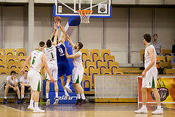 Milos Pesic of KK Sentjur during basketball match between KK Petrol Olimpija and KK Sentjur in Playoffs of Liga Nova KBM 2017/18, on April 18, 2018 in Tivoli sports hall, Ljubljana, Slovenia. Photo by Urban Urbanc / Sportida