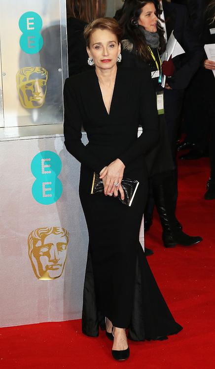 Kristin Scott Thomas, EE British Academy Film Awards (BAFTAs), Royal Opera House Covent Garden, London UK, 08 February 2015, Photo by Richard Goldschmidt