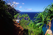 Hiking, Napali Coast, Kauai, Hawaii<br />