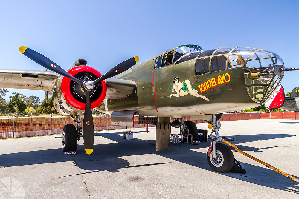 North American B-25J Mitchell, NL3476G Tondelayo, on display at Monterey Jet Center, Collings Foundation event.