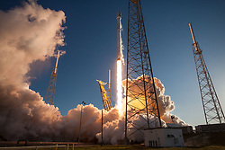 April 18, 2018 - Cape Canaveral, Florida, U.S. - A NASA spacecraft launched Wednesday evening from Cape Canaveral Air Force Station is expected to discover thousands more families of so-called exoplanets circling bright, nearby stars, some of which might have the ingredients needed to support life. The $337 million Transiting Exoplanet Survey Satellite mission, or TESS, roared from Cape Canaveral Air Force Station at 6:51 p.m. ET atop a SpaceX Falcon 9 rocket, and was deployed 49 minutes later in an orbit stretching between Earth and the moon. (Credit Image: ? SpaceX/ZUMA Wire/ZUMAPRESS.com)