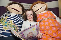 REPRO FREE: Lily Ni Lanagain from Gael Scoil De hIde at the Galway Education Centre's SCriobh Leabhair at the Radisson Blu hotel where national school pupil wrote and Illustrated their own books. Photo:Andrew Downes, xposure.