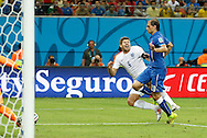 Steven Gerrard of England appears to be fouled by Gabriel Paletta of Italy during the 2014 FIFA World Cup match at Arena da Amazonia, Manaus<br /> Picture by Andrew Tobin/Focus Images Ltd +44 7710 761829<br /> 14/06/2014
