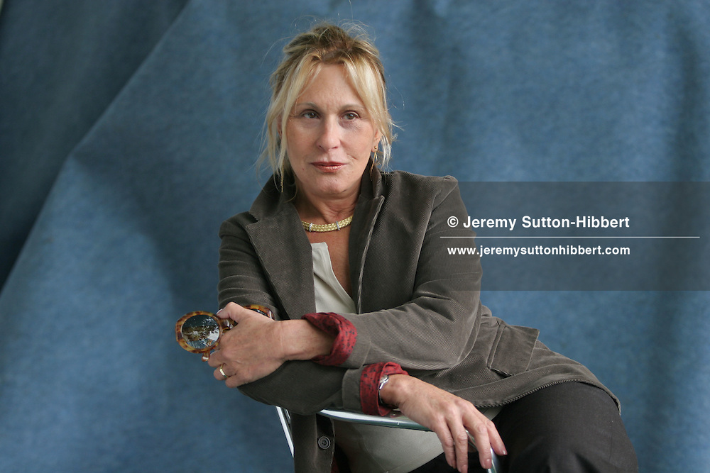 BARBARA VICTOR, American author, political analyst. Edinburgh International Book Festival 2005, Edinburgh, Scotland.