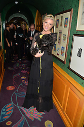 Singer NATALIE RUSHDIE at a dinner to celebrate the 125th anniversary of the Dog's Trust held at Annabel's, Berkeley Square, London on 1st November 2016.