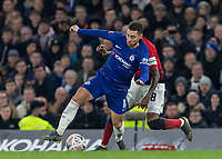 Football - 2018 / 2019 Emirates FA Cup - Fifth Round: Chelsea vs. Manchester United <br /> <br /> Eden Hazard (Chelsea FC)  chased down by Ashley Young (Manchester United) at Stamford Bridge<br /> <br /> COLORSPORT/DANIEL BEARHAM