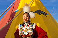 Willow Abrahamson Lemhi Schoshone-Bannock, North American Indian Days, Browning,Blackfeet Indian Reservation, Montana, USA