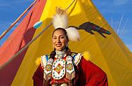 Willow Abrahamson Lemhi Schoshone-Bannock, North American Indian Days, Browning,Blackfeet Indian Reservation, Montana, USA