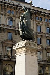Statue of Guiseppe Parini, Milan, Italy / Italia December 6, 2007.