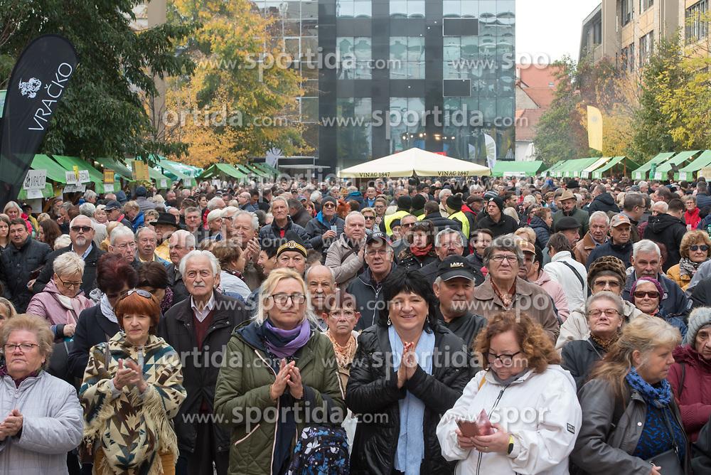 People at Leona Stuklja square during martinovanje, St. Martin's Day Celebration on November 11, 2019 in Maribor, Slovenia. Photo by Milos Vujinovic / Sportida