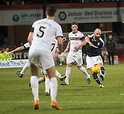 Dundee&rsquo;s Gary Harkins shoots - Dundee v Dumbarton, William Hill Scottish Cup Fifth Round at Dens Park<br /> <br />  - &copy; David Young - www.davidyoungphoto.co.uk - email: davidyoungphoto@gmail.com