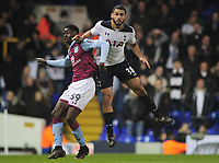 Football - 2016 / 2017 FA Cup - Third Round: Aston Villa vs. Tottenham Hotspur<br /> <br /> Cameron Carter Vickers of Tottenham and Kevan Davis of Aston Villa at White Hart Lane.<br /> <br /> COLORSPORT/ANDREW COWIE