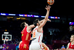 Aleksei Shved of Russia vs Fernando San Emeterio of Spain during basketball match between National Teams  Spain and Russia at Day 18 in 3rd place match of the FIBA EuroBasket 2017 at Sinan Erdem Dome in Istanbul, Turkey on September 17, 2017. Photo by Vid Ponikvar / Sportida