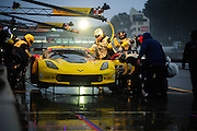October 1- 3, 2015: Road Atlanta, Petit Le Mans 2015 -Tommy Milner, Corvette Racing C7.R GTLM, pitstop