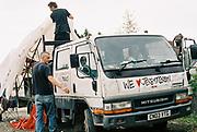 Pick-up van, Halfway Quarry Brecon Wales, May 2017