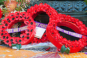 Flower wreaths at Remembrance Day 2006 - Brisbane, Australia - Lest we forget