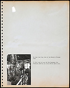 page from a photo album with one missing image USA 1945