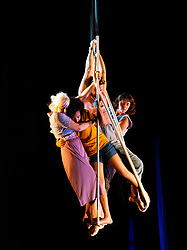 Edinburgh, Scotland, UK. 5 August 2019. Award winning Ockham's Razor perform their show This Time,  a show about time, age and the stories we tell ourselves. With a cast ranging in age from 3 to 60 the show looks at perceptions of strength and age.  Iain Masterton/Alamy Live News