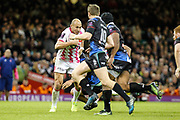 Stade Francais No.8 Sergio Parisse during the European Challenge Cup match between Ospreys and Stade Francais at Principality Stadium, Cardiff, Wales on 2 April 2017. Photo by Andrew Lewis.