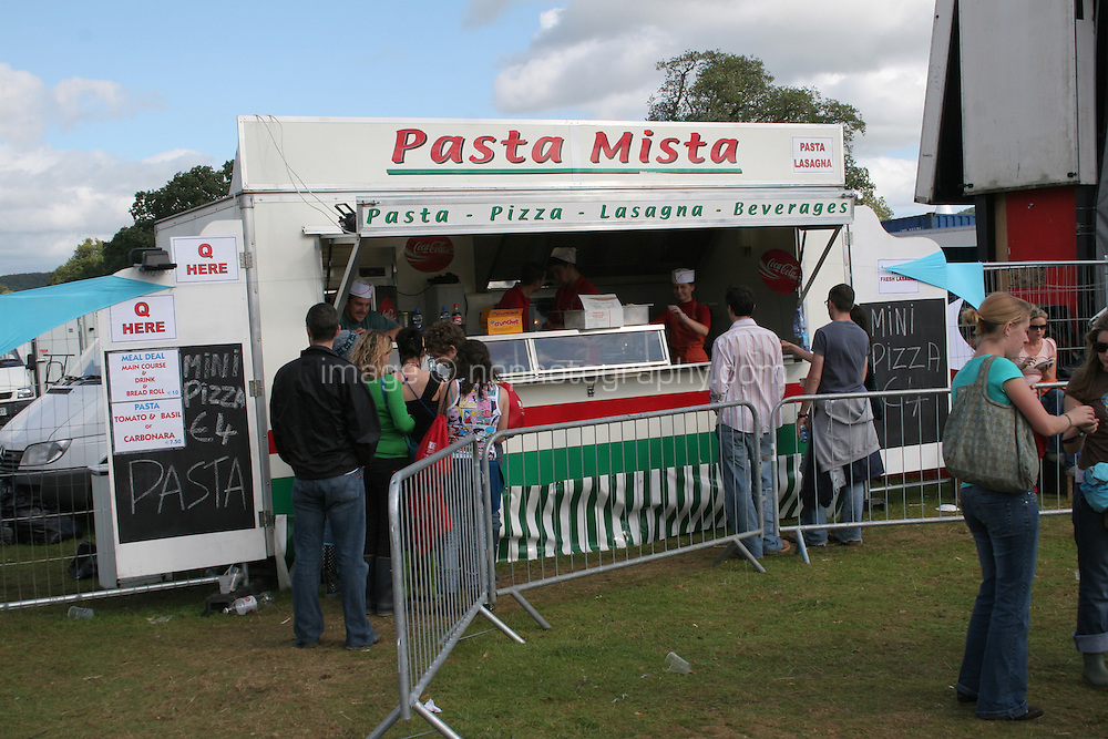 Italian food stand at music festival