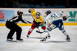 23.12.2016, Ice Rink, Znojmo, CZE, EBEL, HC Orli Znojmo vs Fehervar AV 19, 34. Runde, im Bild v.l. Martin Podesva (HC Orli Znojmo) Andrew Sarauer (Fehervar AV19) // during the Erste Bank Icehockey League 34th round match between HC Orli Znojmo and Fehervar AV 19 at the Ice Rink in Znojmo, Czech Republic on 2016/12/23. EXPA Pictures © 2016, PhotoCredit: EXPA/ Rostislav Pfeffer