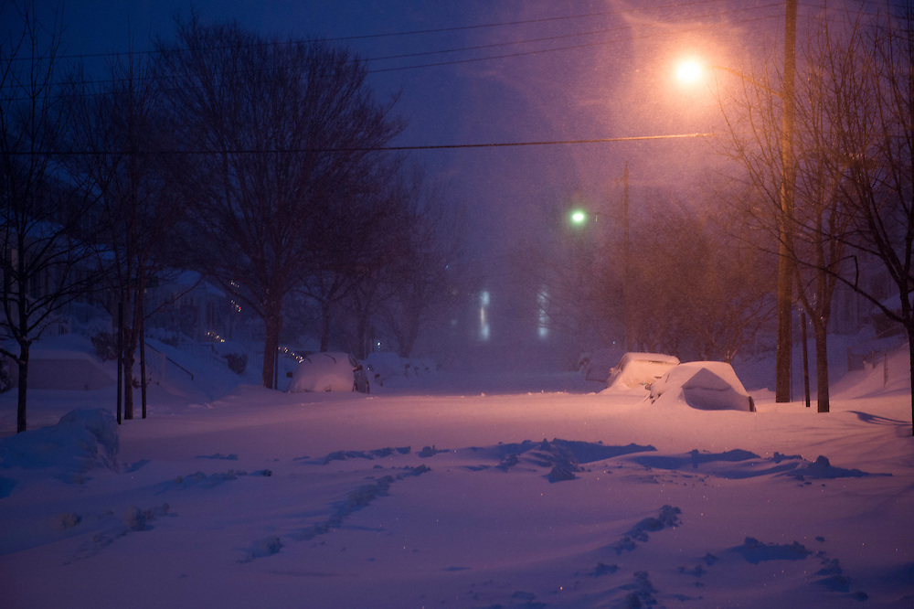 Snow storm in January 2016 as seen in Alexandria, Va.  Photo © Molly Riley