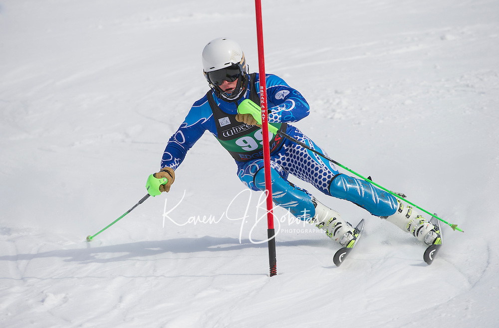 Dartmouth Carnival alpine slalom.  ©2016 Karen Bobotas Photographer
