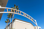 Lido Walk Signage at Via Lido Plaza on Newport Blvd