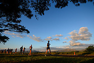 CAPE TOWN, SOUTH AFRICA - OCTOBER 08: Gideon Cillie of Western Province leads the pack in the mens 20km during the ASA 50km and Interprovincial Race Walking Championships at Youngsfield Military base on October 08, 2016 in Cape Town, South Africa. (Photo by Roger Sedres/Gallo Images)