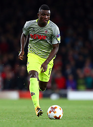 September 14, 2017 - London, Greater London, United Kingdom - Jhon Cordoba of 1.FC Koln.during UEFA Europa League Group H match between Arsenal and 1.FC Koln at The Emirates , London 14 Sept 2017  (Credit Image: © Kieran Galvin/NurPhoto via ZUMA Press)