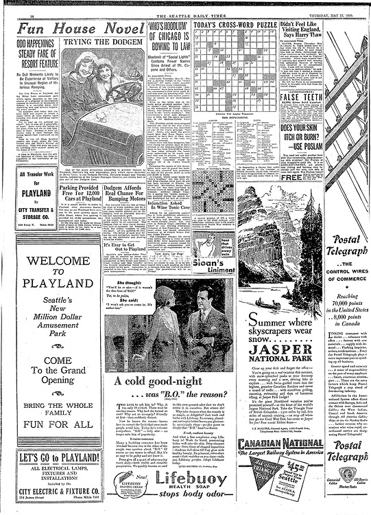 Seattle Times newspaper page 1930 | Seattle Times Photo Store