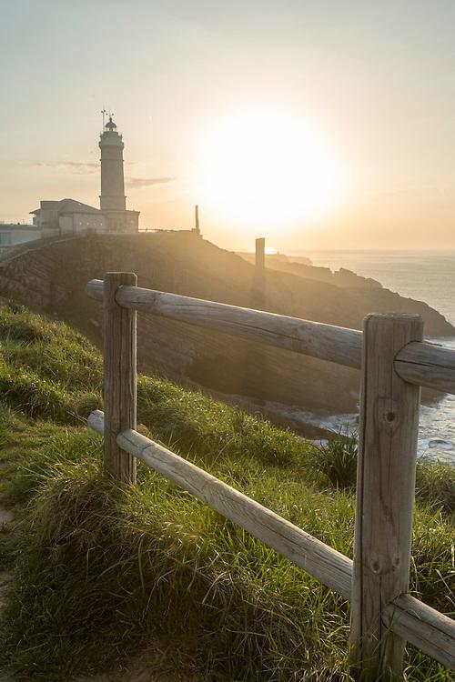 SANTANDER, SPAIN - April 19 2018 Cabo Mayor Lighthouse, Santander, Spain, Europe.