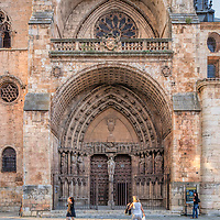Facade of the Cathedral. El Burgo de Osma, Soria, Spain.