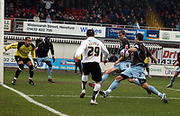 Photo: Mark Stephenson/Richard Lane Photography. <br /> Hereford United v Bury. Coca-Cola League Two. 21/03/2008. Hereford attack