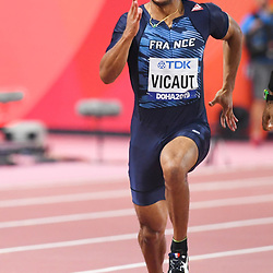 Doha, IAAF, Leichtathletik, athletics, Track and Field, World athletics Championships 2019  Doha, Leichtathletik WM 2019 Doha, 27.09-06.10.2019, .Khalifa International Stadium Doha, Jimmy Vicaut, Frankreich Fotocopyright Gladys Chai von  der Laage ..Photo by Icon Sport - Jimmy VICAULT - Khalifa International Stadium - Doha (Qatar)