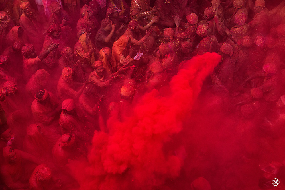 Nandgaon | India | 2016 <br /> <br /> Someone who bumped on my Holi images on my website mailed me with following message &quot;I wish my Canon could do what your Nikon does&quot;. I'm sure we have heard that enough, the Canon-Nikon war of words and the inferiority-superiority complex. My reply to him was pretty straight forward, which I wish to share here. <br /> <br /> Ofcourse your Canon can do what &quot;my&quot; Nikon does. So can Fuji, Sony, Pentax, Ricoh etc. What these gears do, literally, is obey our orders. They capture what we compose, they stick to settings we set, they freeze the moment when we hit the shutter. Bottom line, they do absolutely nothing but follow our lead. Its us, the photographers who are the ones to be credited for what images we make and what images we break. But wait a minute, I use a D4s, the top range of Nikon, am I being biased ? No fucking way. Though full frames do give a tiny (overhyped) edge over crop, the difference is negligible. I have created many of my favourite images on my little Nikon D3100 as much as I have created with D4s or D800. <br /> <br /> If you consider images from Holi, as seen above, what matters here is how much zoom you achieve to get rid of clutters, which in this case, are the selfish photographers who litter the occasion, jumping right into the sabha (gathering). With crop, you only have a better chance of achieving more zoom and cutting out clutters. So thats that. <br /> <br /> Bottom line, stop being brand slaves, rather, 'Be The Brand', create your identity with whatever you have.  At the end of the day, brands don't give a damn about you or me, they just mint money as we get into a fist fight. Brands don't really care about talent, what matters to them is popularity and the blings. <br /> <br /> Speaking of brands and cameras, check out the work of Anjum (oldfashioned AJ), Holi captured with nothing but a little Ricoh GR - https://www.flickr.com/photos/vahanvaty/albums/72157666071537762 . <br /> <b