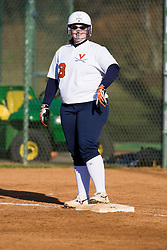 Virginia catcher Kelly Haller (33).  The Virginia Cavaliers softball team fell to the Georgetown Hoyas 4-0 at the University of Virginia's The Park in Charlottesville, VA on March 20, 2008.