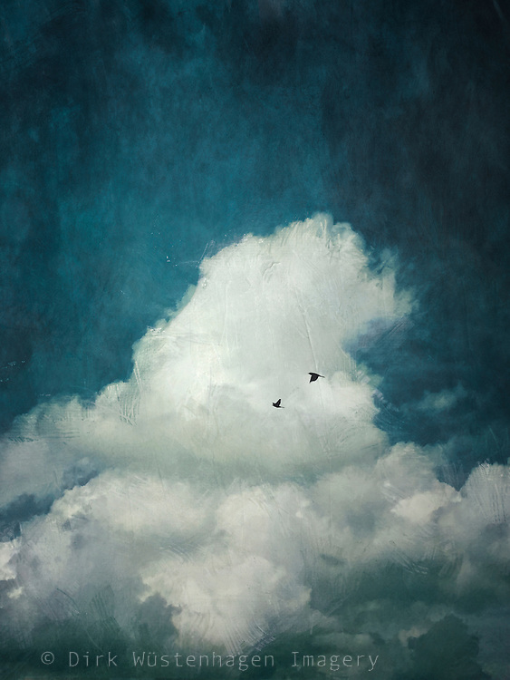 Painterly image of a cumulus cloud<br />