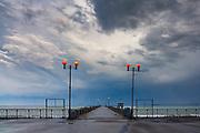 The light of Burgas bridge