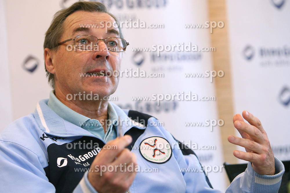 Miro Pozun, head coach of men`s team at the press conference of the Handball Federation of Slovenia after Mens`s European Championship in Norway (17 to 27 January 2008), where Slovenia finished at 10th place. The press conference was held in Ljubljana  on January 29, 2008. (Photo by Vid Ponikvar / Sportal Images).