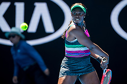 January 14, 2019 - Melbourne, VIC, U.S. - MELBOURNE, AUSTRALIA - JANUARY 14 : Sloane Stephens of ÊUnited States returns the ball during day 1 of the Australian Open on January 14 2019, at Melbourne Park in Melbourne, Australia.(Photo by Jason Heidrich/Icon Sportswire) (Credit Image: © Jason Heidrich/Icon SMI via ZUMA Press)